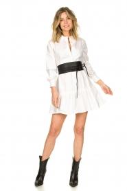 Fracomina    Blouse dress with waistband Tatum   white    Picture 3