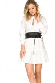 Fracomina    Blouse dress with waistband Tatum   white    Picture 2