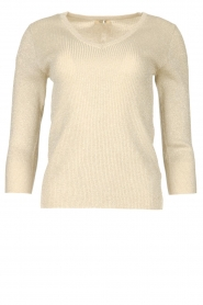 Fracomina |  Lurex sweater Lizzy | beige  | Picture 1