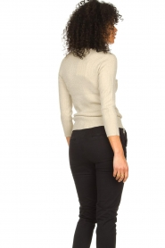 Fracomina |  Lurex sweater Lizzy | beige  | Picture 5