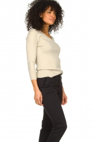 Fracomina |  Lurex sweater Lizzy | beige  | Picture 4