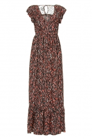 Fracomina |  Maxi dress with animal print Grace | black  | Picture 1