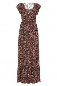 Fracomina | Maxi jurk met dierenprint Grace | zwart   | Afbeelding 1