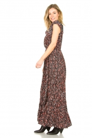 Fracomina | Maxi jurk met dierenprint Grace | zwart   | Afbeelding 5