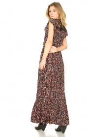 Fracomina |  Maxi dress with animal print Grace | black  | Picture 6