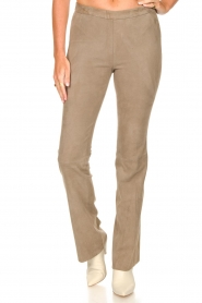 Dante 6 |  Flared suede pants Dolliman | grey  | Picture 4
