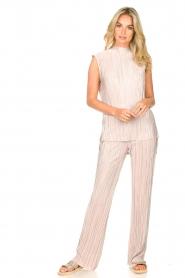 Dante 6 |  Plissé pants Lussac | pink  | Picture 3