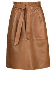 Dante 6 |  Lamb leather skirt Aggy | camel  | Picture 1