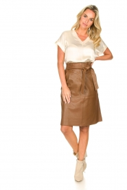 Dante 6 |  Lamb leather skirt Aggy | camel  | Picture 3