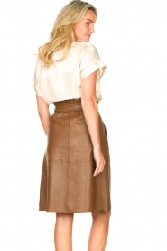 Dante 6 |  Lamb leather skirt Aggy | camel  | Picture 6
