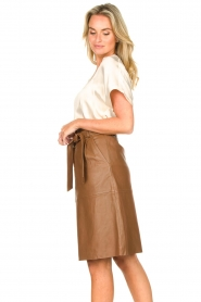Dante 6 |  Lamb leather skirt Aggy | camel  | Picture 5