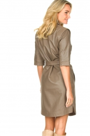 Dante 6 |  Lamb leather button-up dress Lyra | brown  | Picture 6