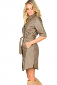 Dante 6 |  Lamb leather button-up dress Lyra | brown  | Picture 5