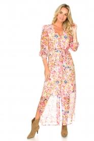 Dante 6 |  Floral maxi dress Zahava | pink  | Picture 2