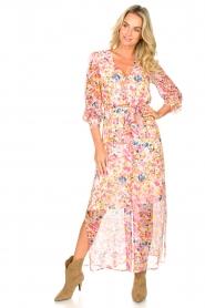 Dante 6 |  Floral maxi dress Zahava | pink  | Picture 3
