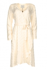 Dante 6 |  Wrap dress with logo print Dayna | natural  | Picture 1