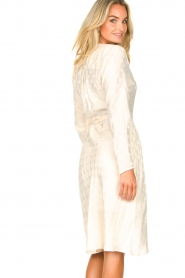 Dante 6 |  Wrap dress with logo print Dayna | natural  | Picture 7