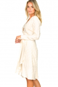 Dante 6 |  Wrap dress with logo print Dayna | natural  | Picture 5