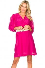 Dante 6 |  Dress with puff sleeves Alba | pink  | Picture 4