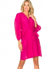 Dante 6 |  Dress with puff sleeves Alba | pink  | Picture 5