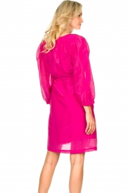 Dante 6 |  Dress with puff sleeves Alba | pink  | Picture 7