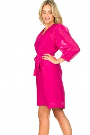 Dante 6 |  Dress with puff sleeves Alba | pink  | Picture 6