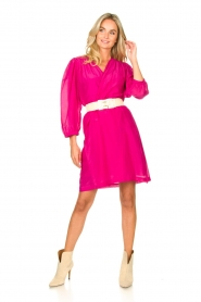 Dante 6 |  Dress with puff sleeves Alba | pink  | Picture 3