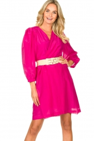 Dante 6 |  Dress with puff sleeves Alba | pink  | Picture 2
