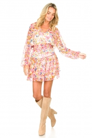 Dante 6 |  Floral blouse Ava | pink  | Picture 3
