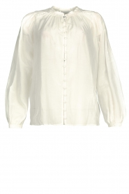 Dante 6 |  Cotton blouse with puff sleeves Ginni | white