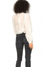 Dante 6 |  Cotton blouse with puff sleeves Ginni | white  | Picture 6