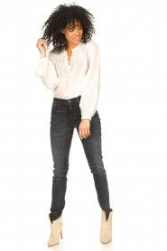 Dante 6 |  Cotton blouse with puff sleeves Ginni | white  | Picture 3