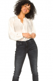 Dante 6 |  Cotton blouse with puff sleeves Ginni | white  | Picture 2