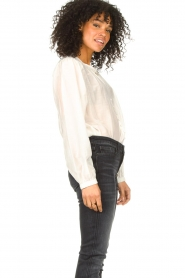 Dante 6 |  Cotton blouse with puff sleeves Ginni | white  | Picture 5