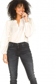 Dante 6 |  Cotton blouse with puff sleeves Ginni | white  | Picture 4