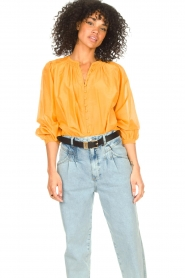 Dante 6 |  Blouse with puff sleeves Ginni | orange  | Picture 2