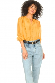 Dante 6 |  Blouse with puff sleeves Ginni | orange  | Picture 4