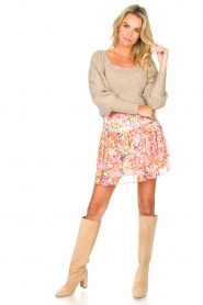 Dante 6 |  Floral skirt Wonderous | pink   | Picture 3