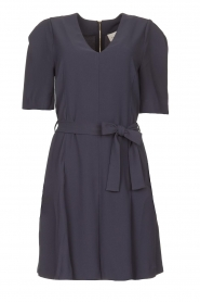 Dante 6 |  Dress with tie waist detail Rebel | blue  | Picture 1