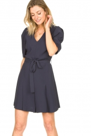 Dante 6 :  Dress with tie waist detail Rebel | blue - img4