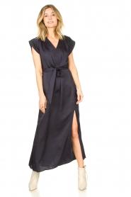 Dante 6 |  Maxi dress with crepe effect Jasiel | blue  | Picture 5