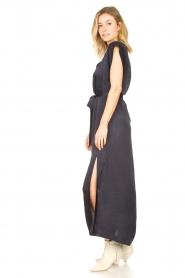 Dante 6 |  Maxi dress with crepe effect Jasiel | blue  | Picture 7