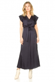 Dante 6 |  Maxi dress with crepe effect Jasiel | blue  | Picture 2