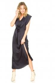 Dante 6 |  Maxi dress with crepe effect Jasiel | blue  | Picture 4
