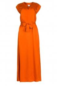 Dante 6 | Maxi-jurk met crêpe effect Jasiel | oranje   | Afbeelding 1