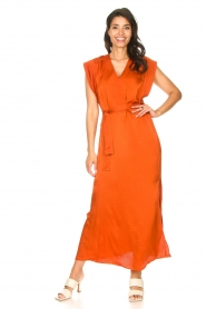 Dante 6 |  Maxi dress with crepe effect Jasiel | orange  | Picture 2