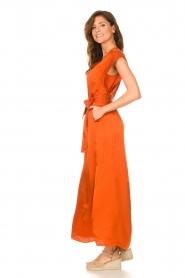 Dante 6 |  Maxi dress with crepe effect Jasiel | orange  | Picture 4
