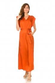 Dante 6 |  Maxi dress with crepe effect Jasiel | orange  | Picture 2