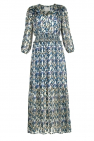 Dante 6 |  Maxi dress with aztec print Bardon | blue  | Picture 1