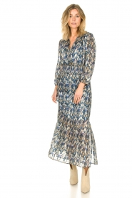 Dante 6 |  Maxi dress with aztec print Bardon | blue  | Picture 3